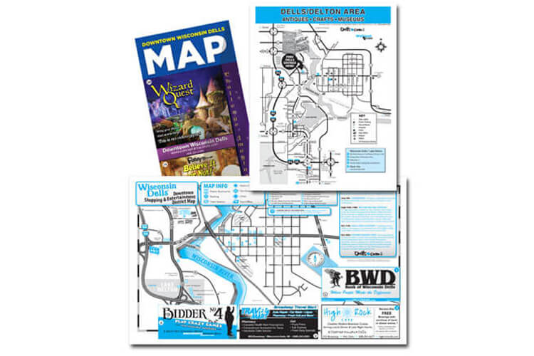 Wisconsin Dells and Lake Delton Attraction Map