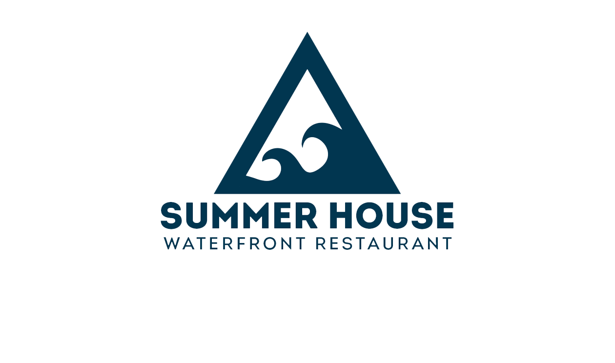 Summer House Logo Draft - Triangle with Waves