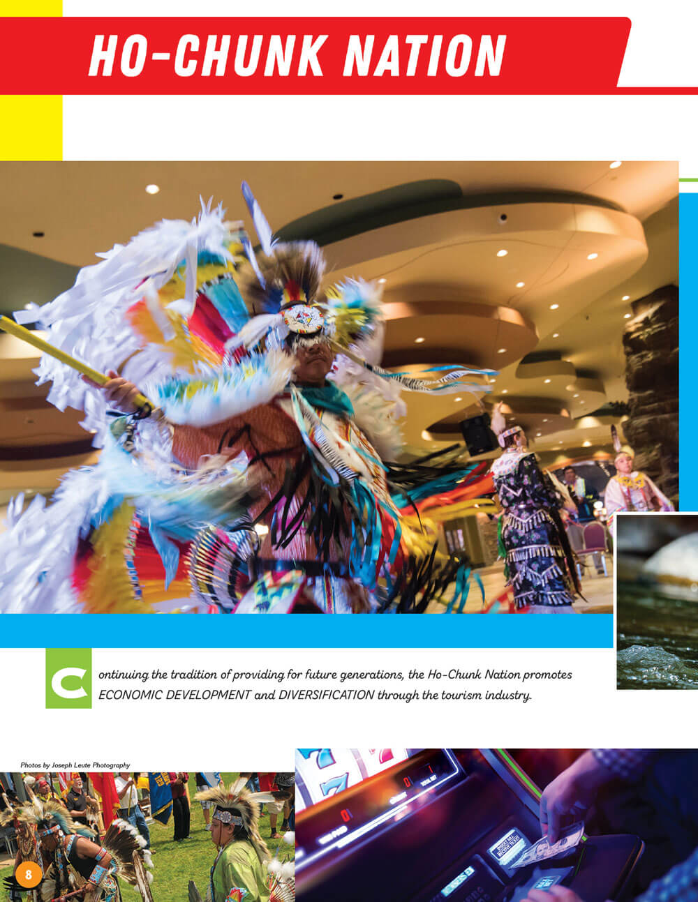 Native Wisconsin Travel Guide Brochure Spread - Ho-Chunk Nation